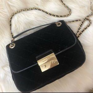 Michael Kors velvet chain handbag